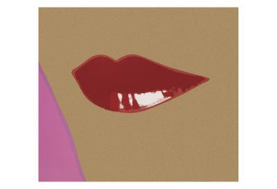 1 page from Lips Book, c. 1975-Andy Warhol-Art Print