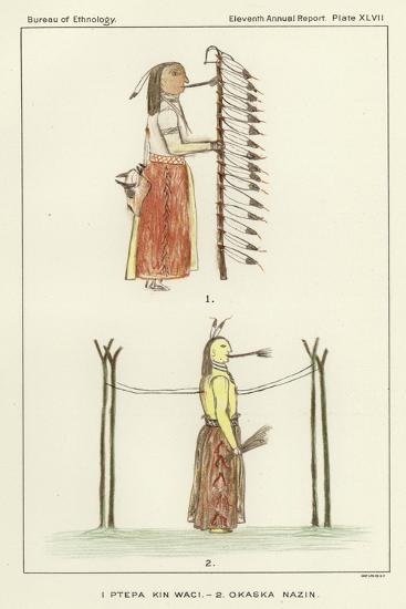 1 Ptepa Kin Waci, 2 Okaska Nazin--Giclee Print