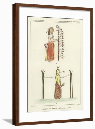 1 Ptepa Kin Waci, 2 Okaska Nazin--Framed Giclee Print
