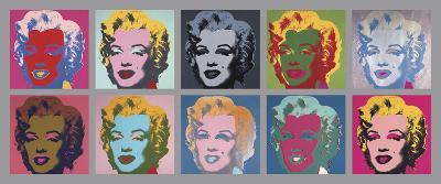10 Marilyns, 1967-Andy Warhol-Art Print