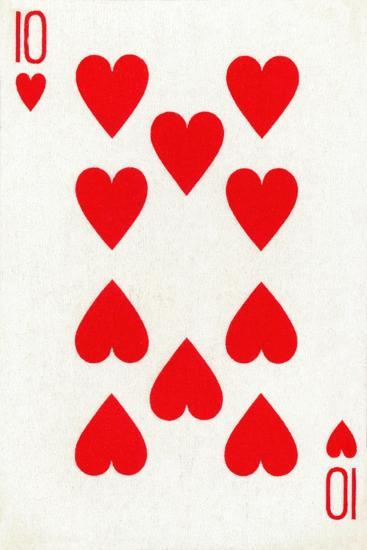 10 of Hearts from a deck of Goodall & Son Ltd. playing cards, c1940-Unknown-Giclee Print