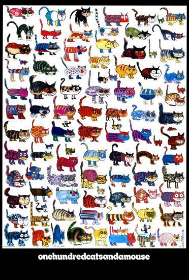 100 Cats and a Mouse-Vittorio-Art Print