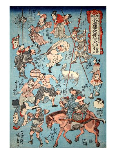 100 Worrar of Suikoden-Kuniyoshi Utagawa-Giclee Print