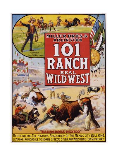 101 Ranch Real Wild West Poster--Giclee Print