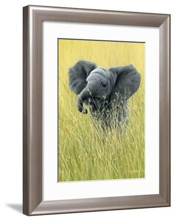 1019 Elephant In The Grass-Jeremy Paul-Framed Giclee Print