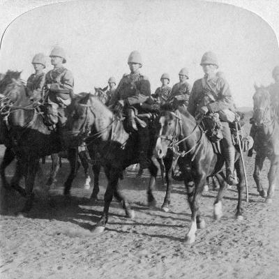 10th Hussars after Repulsing a Boer Attack, Colesberg, South Africa, 4th January 1900-Underwood & Underwood-Giclee Print