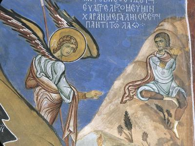 1192 Fresco Depicting Angel Giving Announcement to Shepherds--Giclee Print