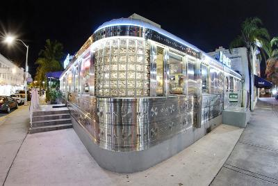 11st Street Diner, Fast Food Restaurant in Retro Style, Miami South Beach-Axel Schmies-Photographic Print