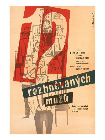 12 Angry Men-Rozhnevanych--Art Print