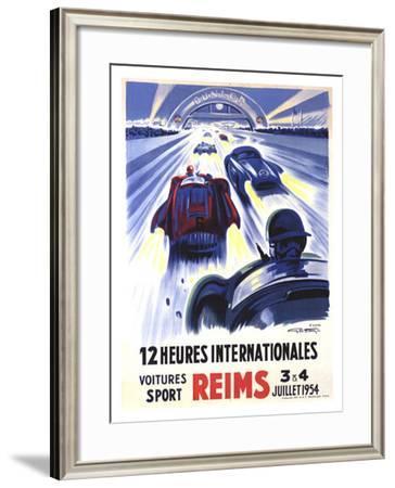 12 Heures International Reims, 1954-Geo Ham-Framed Giclee Print