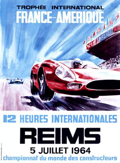 12 Heures Internationale, Reims, 1964-James Blank-Giclee Print