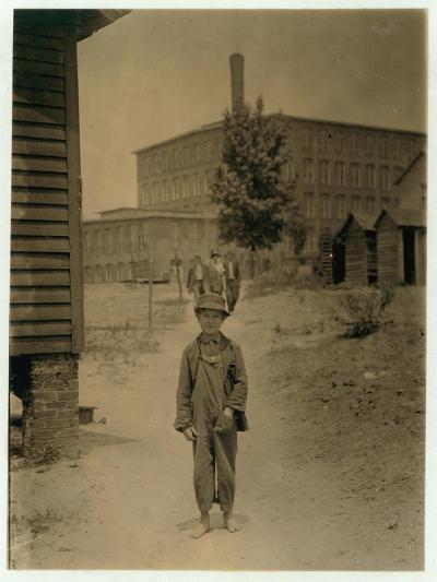 12 Year Old Eddie Norton-Lewis Wickes Hine-Photographic Print