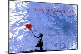 128 Balloon Girl-Banksy-Mounted Giclee Print