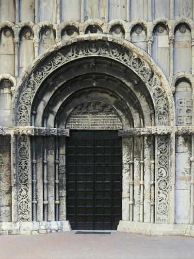 12th Century Doorway of Church of Santa Maria Della Piazza, Ancona, Italy, 13th Century--Giclee Print