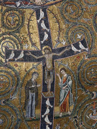 12th Century Fresco of Christ's Triumph on the Cross, San Clemente Basilica, Rome, Lazio-Godong-Photographic Print