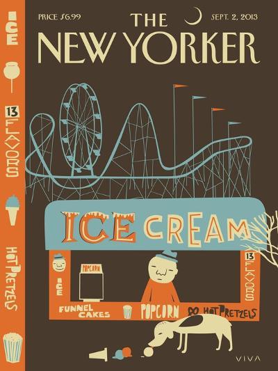 13 Flavors - The New Yorker Cover, September 2, 2013-Frank Viva-Premium Giclee Print