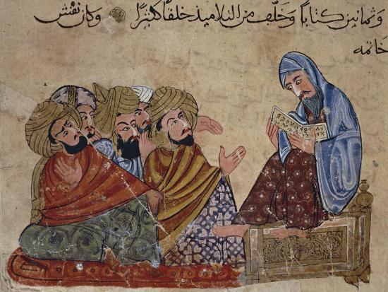 13th Century Turkey Miniature Depicting Socrates Discussing Philosophy with His Disciples--Giclee Print