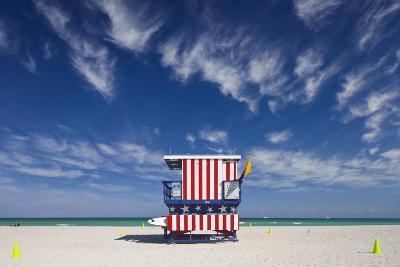 13Th Street Lifeguard Station on Miami Beach-Jon Hicks-Photographic Print