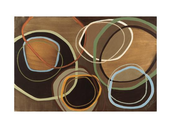 14 Friday I - Brown Circle Abstract-Jeni Lee-Premium Giclee Print