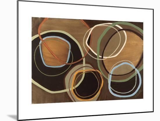 14 Friday I - Brown Circle Abstract-Jeni Lee-Mounted Premium Giclee Print