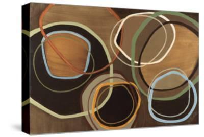 14 Friday I - Brown Circle Abstract-Jeni Lee-Stretched Canvas Print