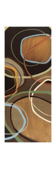 14 Friday Panel I - Brown Circle Abstract-Jeni Lee-Premium Giclee Print