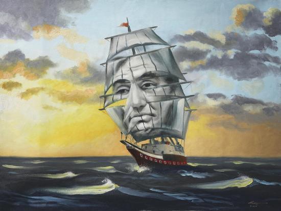 14238-Hr-Uss Lincoln Illusion-D. Rusty Rust-Giclee Print