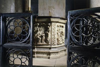 14th Century Baptismal Font, Baptistery of San Giovanni Battista, Florence, Italy--Giclee Print