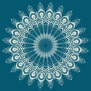 Peacock Feathers Mandala by 15.0