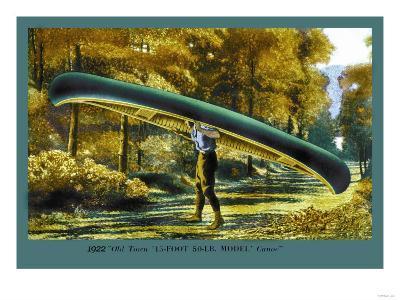 15 Foot 50 Lb. Model Canoe--Art Print