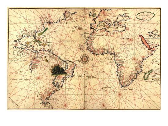 1544 Nautical Map of the Atlantic Ocean Photo by   Art.com on caribbean sea, map of germany, north sea, map of the caribbean, mediterranean sea, map of china, map of the great lakes, map of the brazilian highlands, world ocean, map of europe, united states of america, map of the haiti, map of africa, arctic ocean, map of the world, indian ocean, map of the india, map of the north atlantic, pacific ocean, gulf of mexico, map of the arctic ocean, black sea, map of the amazon river, map of the egypt, amazon river, southern ocean, map of the united states, map of england, map of portugal, red sea, map of the alps, map of the indian ocean, north america, map of north america,