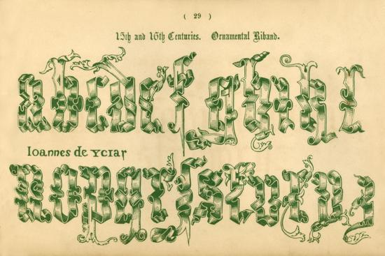 '15th and 16th Centuries. Ornamental Riband', 1862-Unknown-Giclee Print