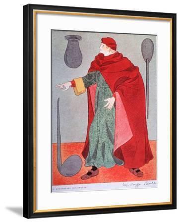 15th Century Apothecary Costume-Warja Honegger-Lavater-Framed Art Print