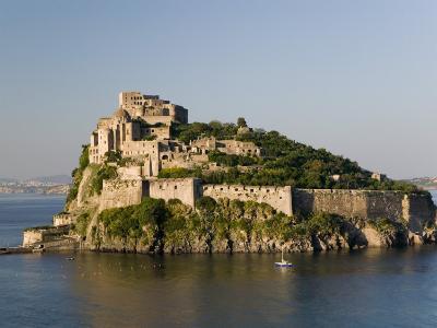15th Century Castello Aragonese d'Ischia, Ischia Ponte, Ischia, Bay of Naples, Campania, Italy-Walter Bibikow-Photographic Print