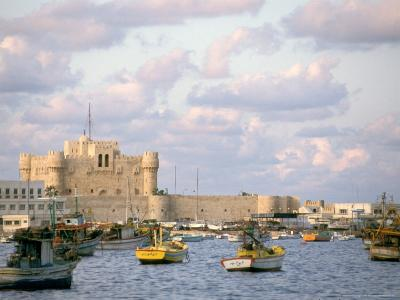 15th Century Castle, Fort Qait Bay, Alexandria, Egypt-Nik Wheeler-Photographic Print