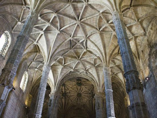 15th Century Interior of the Church of Santa Maria, Lisbon, Portugal-John Loggins-Photographic Print