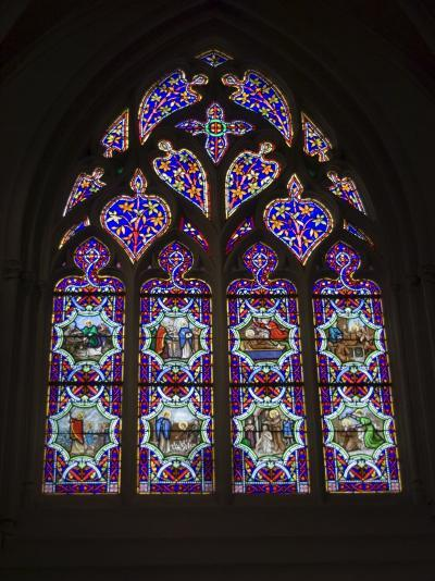 15th Century Stained Glass Window in the Cathedrale St-Corentin, Southern Finistere, France-Amanda Hall-Photographic Print