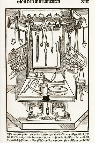 15th Century Surgical Equipment, Artwork-Sheila Terry-Photographic Print