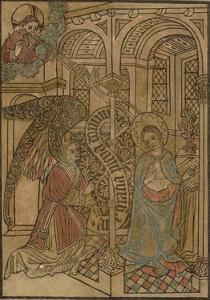 15th Century Woodcut of the Annunciation