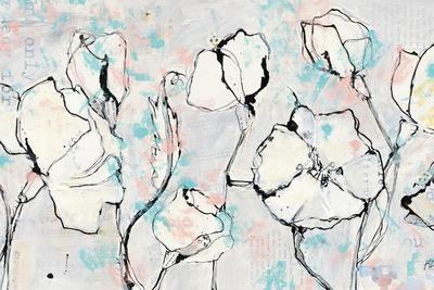 16 Again Blush Turquoise-Kellie Day-Framed Art Print