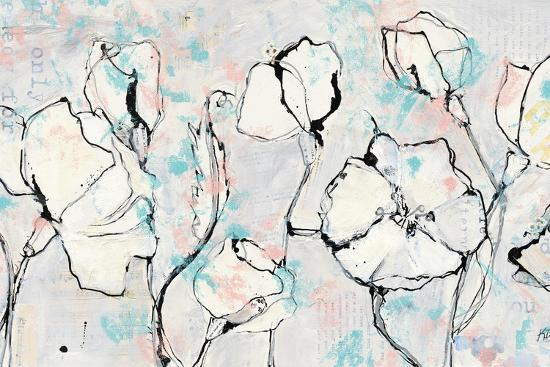 16 Again Blush Turquoise-Kellie Day-Art Print