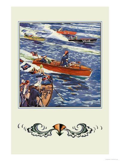16 Foot Runabout-Edward A^ Wilson-Art Print