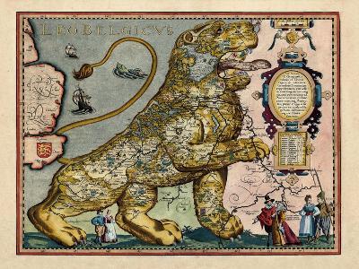 1617, Europe, Leo Belgicus--Giclee Print
