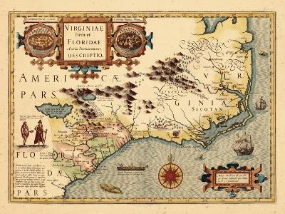 1619, South Carolina, North Carolina, Florida, Georgia, Virginia--Giclee Print