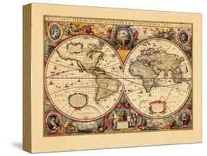 Antique maps artwork for sale posters and prints at art 1633 world gumiabroncs Image collections