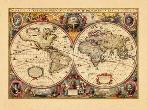 Antique maps artwork for sale posters and prints at art 1633 world gumiabroncs Images