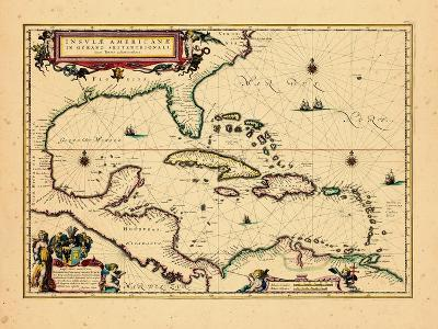 1640, West Indies, Florida, Central America--Giclee Print