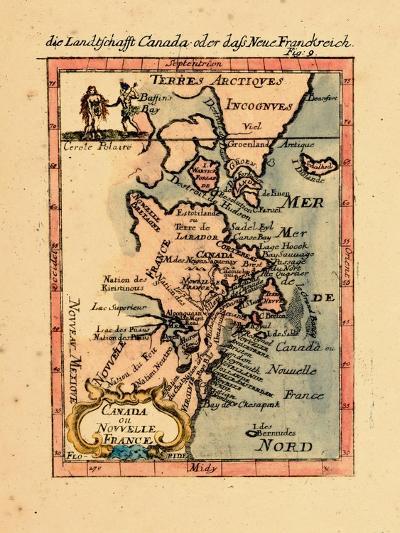 1686, Connecticut, Greenland, Maine, Massachusetts, New Brunswick, New Hampshire--Giclee Print
