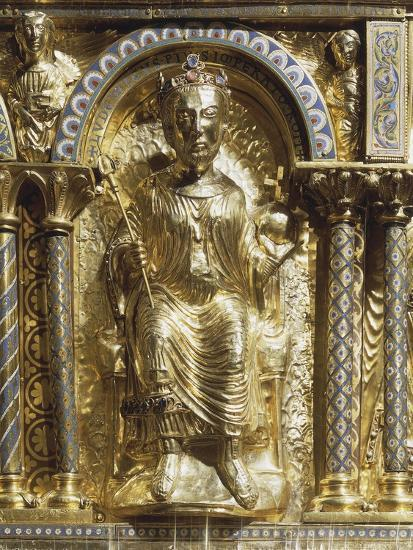 16th Century Charlemagne Shrine in Gold, Precious Stones and Enamels--Giclee Print