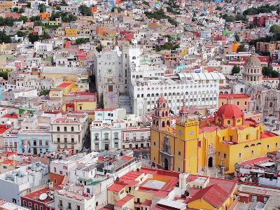 16Th Century Colonial Buildings in the Valley of Guanajuato in Central Mexico, World Heritage Site- Takamex-Photographic Print